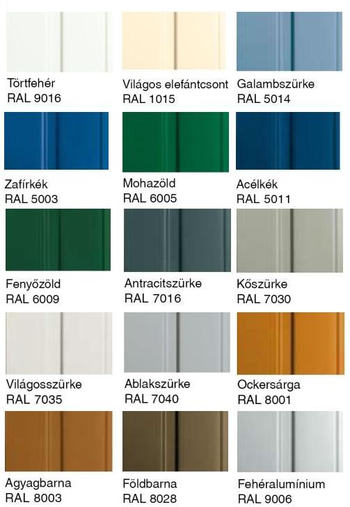 Hörmann garázskapu RAL színek
